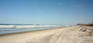 Het is rustig op het strand