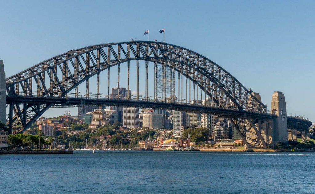 Sydney Harbour Bridge,Circular Quay, Sydney, New South Wales, Australië (2012)