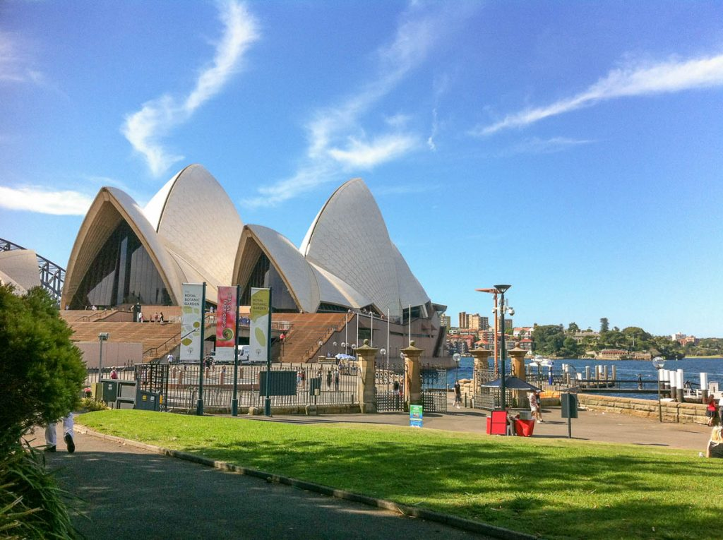 Sydney Opera House,Royal Botanical Gardens, Sydney, New South Wales, Australië (2012)