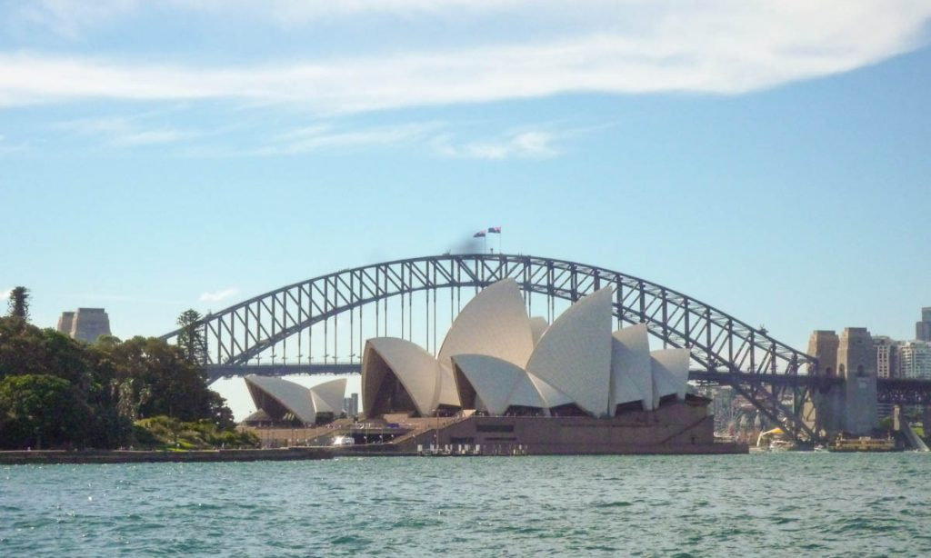 Sydney Opera House & Harbour Bridge,Royal Botanical Gardens, Sydney, New South Wales, Australië (2012)