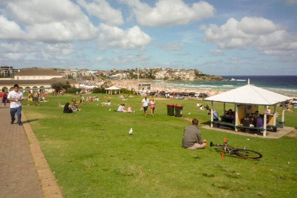 Recreatie gebied bij Bondi,Bondi Beach, Sydney, New South Wales, Australië (2012)