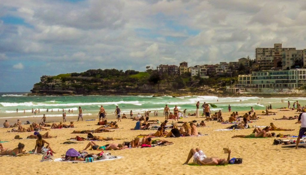 Bondi Beach,Bondi Beach, Sydney, New South Wales, Australië (2012)