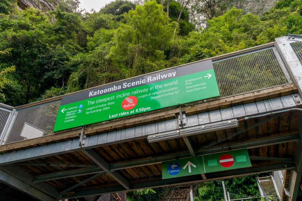 Steilste traject van de wereld,Katoomba, New South Wales, Australië (2011)