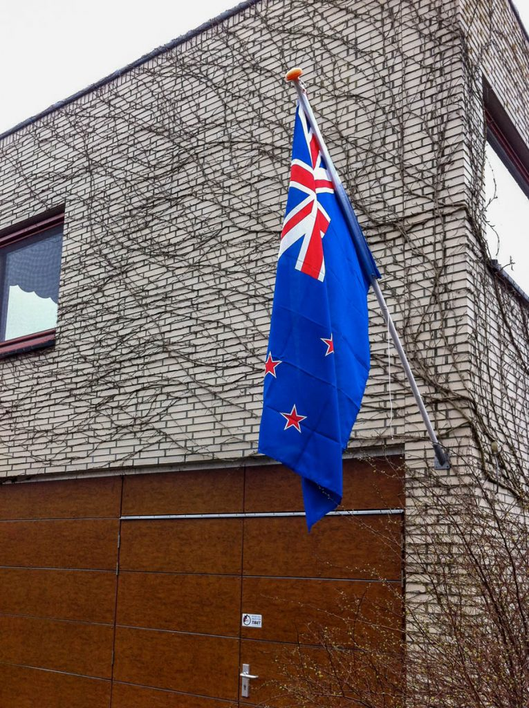 Nieuw Zeelandse vlag,Lelystad, Flevoland (2012)