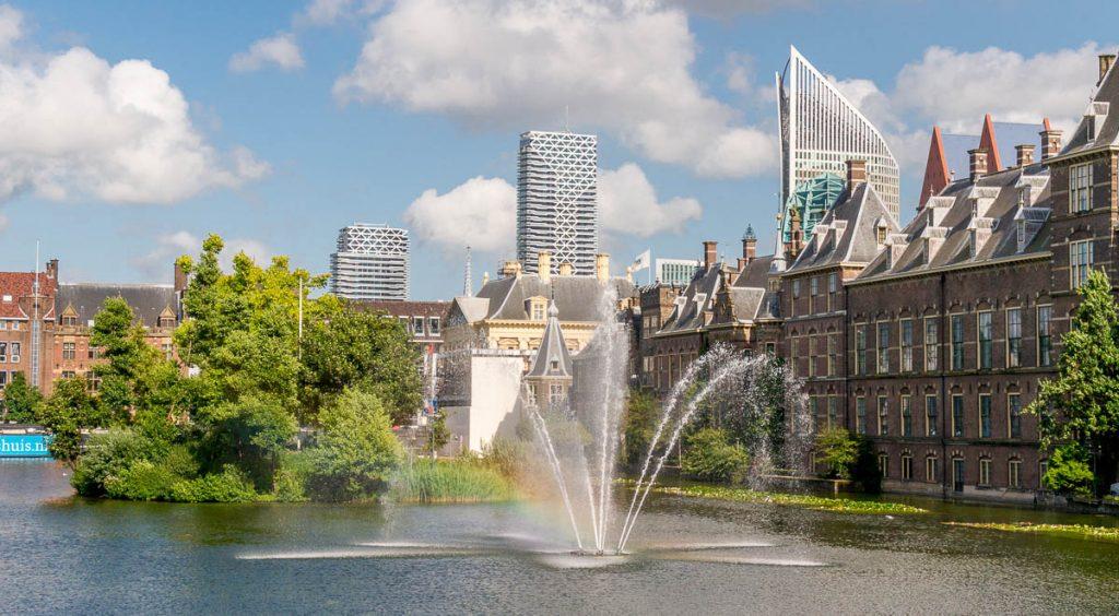 Parliament gebouwen,Hofvijver, Den Haag, Zuid-Holland (2013)