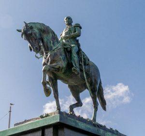 Koning Willem II te paard (A. Mercie en V. Peters, 1924)