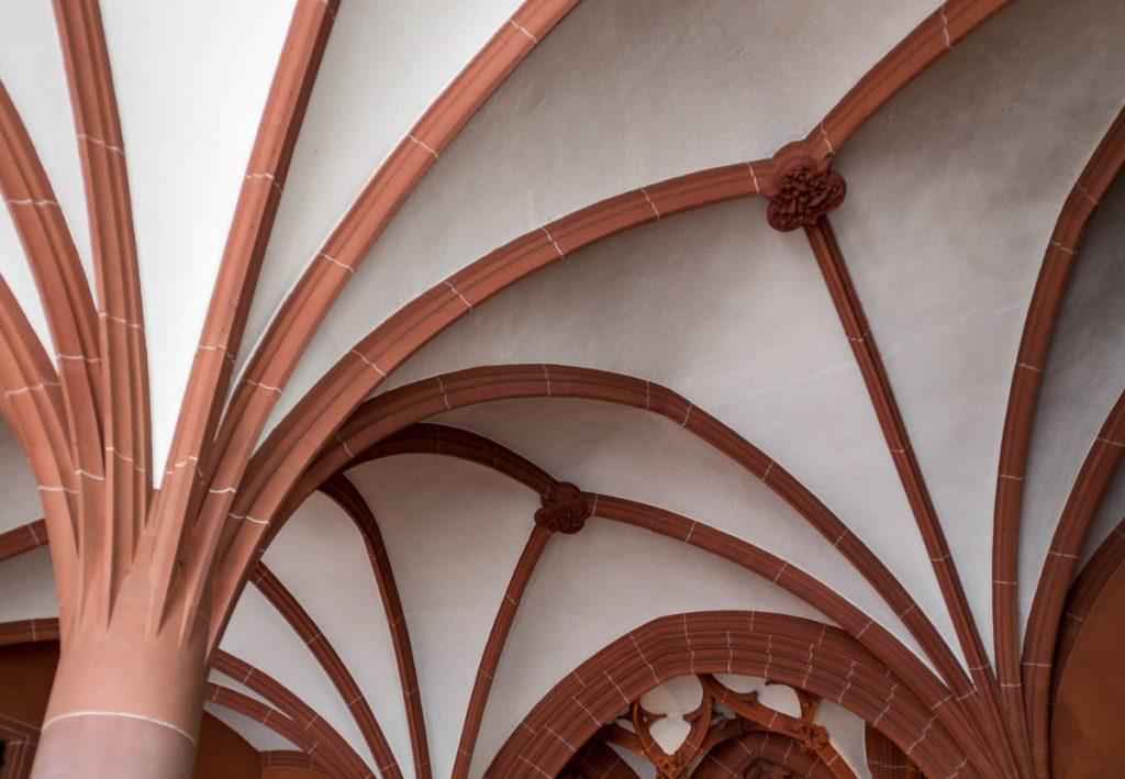 Plafond,Dom St. Bartholomäus, Frankfurt, Hessen, Duitsland (2013)