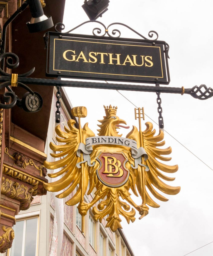 Gasthaus,Römerberg Platz, Frankfurt, Hessen, Duitsland (2013)