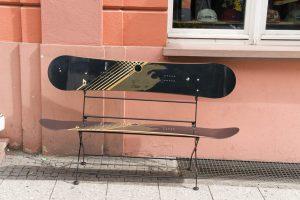 Snowboard bankje
