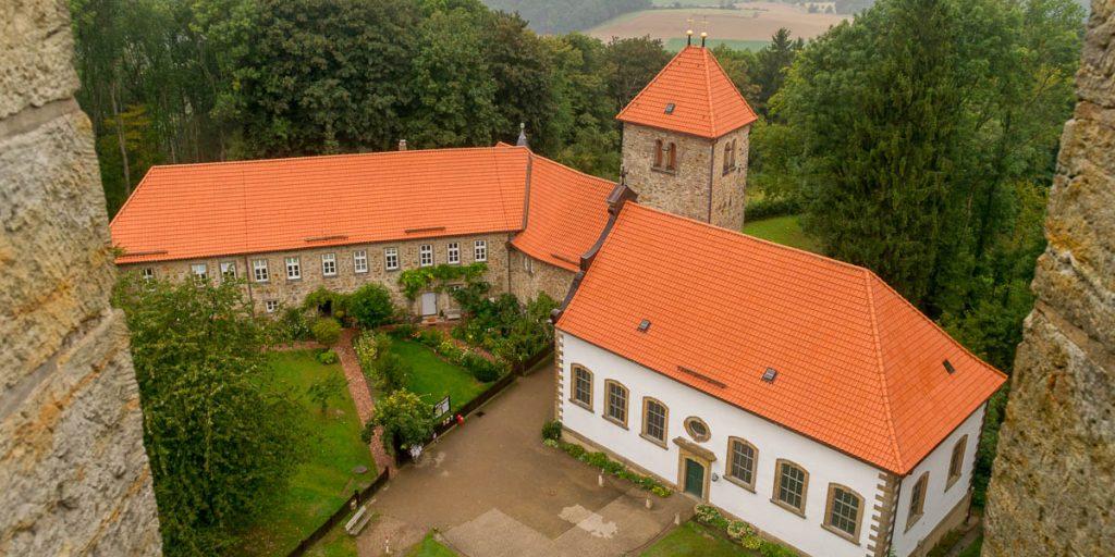 Uitzicht op de St. Hubertus Kirche
