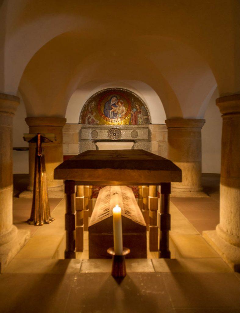Crypte,Michaeliskirche, Hildesheim, Nedersaksen, Duitsland (2013)