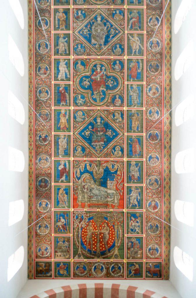 Plafond,Michaeliskirche, Hildesheim, Nedersaksen, Duitsland (2013)
