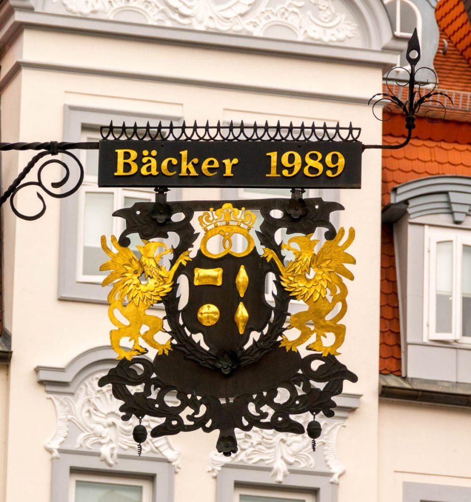 Bäcker 1989,Marktplatz, Hildesheim, Nedersaksen, Duitsland (2013)