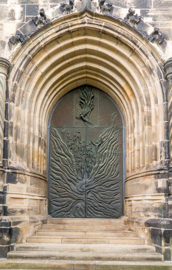 Deuren,Andreaskirche, Hildesheim, Nedersaksen, Duitsland (2013)