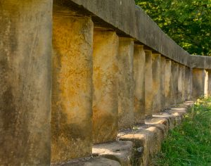Stenen balustrade