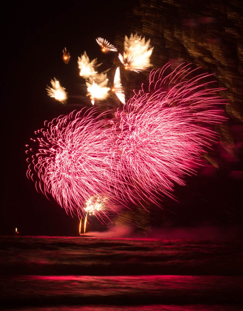Vuurwerkshow Duitsland,Scheveningen Noorderstrand, Den Haag, Zuid-Holland (2014)