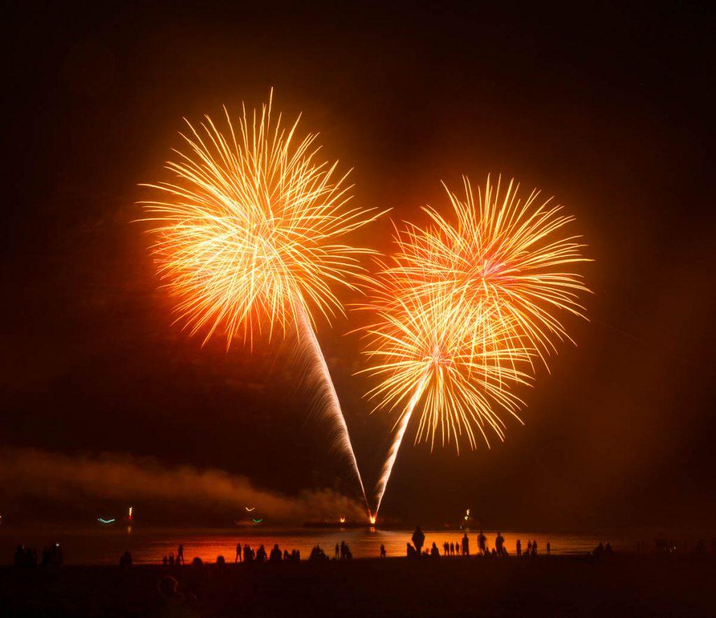 Vuurwerkshow Duitsland,Scheveningen Noorderstrand, Den Haag, Zuid-Holland (2015)