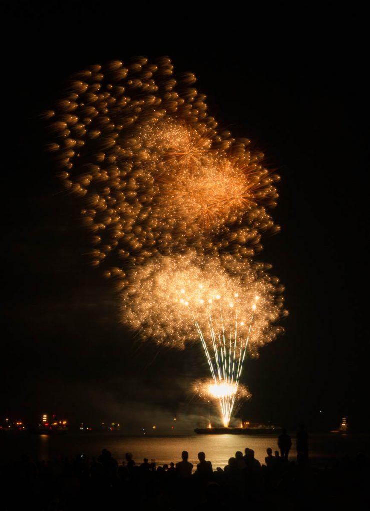 Vuurwerkshow Spanje,Scheveningen Noorderstrand, Den Haag, Zuid-Holland (2015)