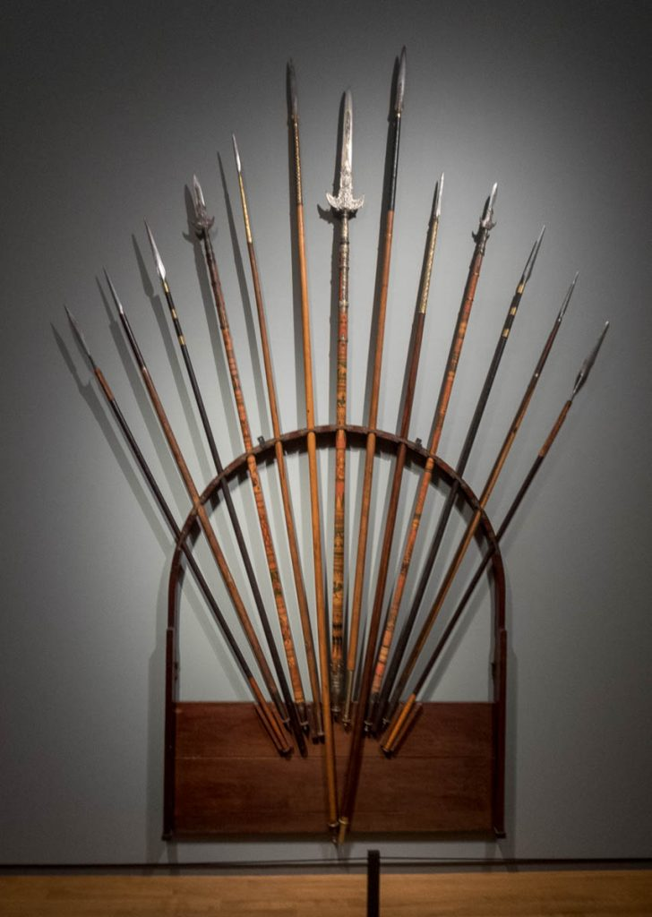 Spear Rack of Governor-General (Java 1864),Rijksmuseum, Amsterdam, Noord-Holland (2016)